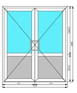 двухстворчатые металлические двери 1300 мм ширина