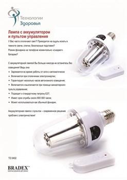 Лампа с аккумулятором и пультом управления (remote controlled lamp) - фото 22058