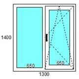 Окно пластиковое GUTWERK 58 мм / 3 кам / Roto 2 кам с/п 32 мм Top-N