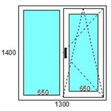 Окно пластиковое  GUTWERK 70 мм / 4 кам / Roto