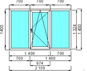 Окно пластиковое КВЕ «Engine» 58 мм / 3 кам / Roto 1 кам с/п 24 мм