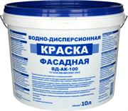 ВД-Краска фасадная для наружных и внутр. работ белая ВД-АК-100 (10л) База 3