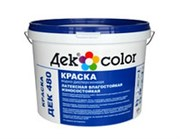 """""""Дек Color"""", ВД-Краска латексная влагостойкая износостойкая белая мат. ДЕК 490 (5л) колер микс"""