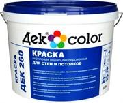 """""""Дек Сolor"""", ВД-Краска д/стен и потолков белая мат. ДЕК-260 А (5л)"""