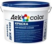 """""""Дек Сolor"""", ВД-Краска для ванной и кухни белая мат. ДЕК-4100А (5л)"""