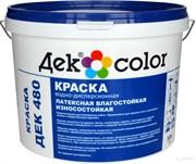 """""""Дек Сolor"""", ВД-Краска латексная влагостойкая износостойкая белая мат. ДЕК-480L (10л)"""