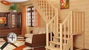 Лестница для частного дома К-022м