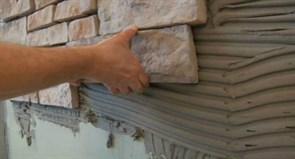 Монтаж натур. камня без заполнения швов