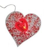 """Набор """"Сердце"""": мышка и коврик для РС"""