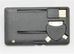 Портативное зарядное устройство Power-флешка 8 Гб Black