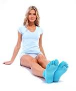 Носки противоскользящие для занятий йогой (ToeSox Women's Grip Full Toe Bella Socks)
