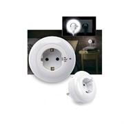 Ночник диодный с розеткой «Кольцо Сатурна» (3 LED light and socket)