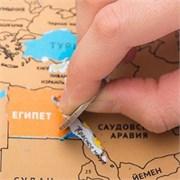 Стирательная скретч карта Мира