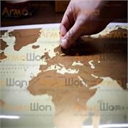 Тубус скретч-карта План покорения Мира