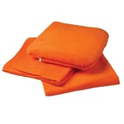 """Автомобильный плед-подушка оранжевый """"Легко довольствуюсь самым  лучшим!"""""""