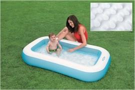 Бассейн ванна с надув.пол. 1-3лет
