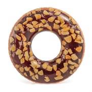 Надувной круг Шоколадный пончик с орехами, 114см