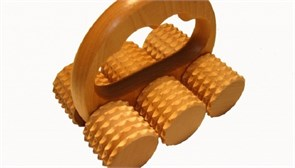 Массажер деревянный для тела (гладкие или игольчатые ролики)