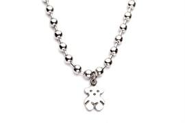 Браслет «Мишутка» цвет серебряный (Bracelet KB60721-Z)