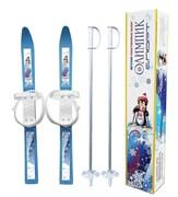 Лыжи детские «Олимпик-спорт» с лыжными палками в коробке