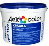 """""""Дек Сolor"""", ВД-Краска акриловая фасадная белая мат. ДЕК-1100А (10л)"""