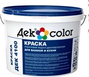 """""""Дек Сolor"""", ВД-Краска для ванной и кухни белая мат. ДЕК-4100А (10л)"""