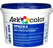 """""""Дек Сolor"""", ВД-Краска д/стен и потолков белая мат. ДЕК-260 А (10л)"""