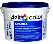 """""""Дек Сolor"""", ВД-Краска акриловая интерьерная супер белая мат. ДЕК-270А (10л)"""
