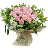 Роза, Альстромерия, Вибурнум, Упаковка