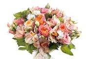 Роза, Эустома, Орхидея, Упаковка