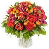 Роза, Орхидея, Роза кустовая, Альстромерия, Илекс, Упаковка