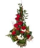 Роза,Хризантема,Гиперикум,Зелень,Упаковка