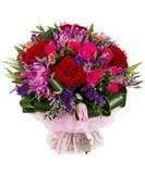Хризантема, Роза, Тюльпаны, Статица, Лимониум, Упаковка