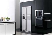Стандартная установка встраиваемого 2-х дверного холодильника