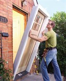 Монтаж дверного блока (монтаж дверной коробки,полотна одностворчатого) S<2,5м.кв