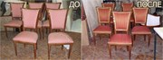 Перетяжка стула с мягкой спинкой