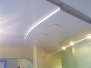 Натяжной потолок Бельгия 2,7-3,2 глянцевый  белый 10-14 м кв