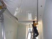 Натяжной потолок Бельгия 2,7-3,2 матовый белый от 14м кв и более с пластиковым багетом