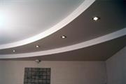 Натяжной потолок Бельгия 2,7-3,2 сатин белый 6-10м кв с пластиковым багетом