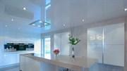 Натяжной потолок Бельгия 2,7-3,2 сатин белый 10-14 м кв с пластиковым багетом