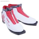 Ботинки лыжные TREK Lady Comfort NN 75 ИК (белый, лого красный) (р.38)