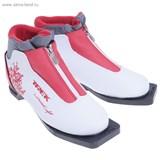 Ботинки лыжные TREK Lady Comfort NN 75 ИК (белый, лого красный) (р.36)