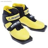 Ботинки лыжные TREK Laser ИК (желтый, лого белый) (р.35)